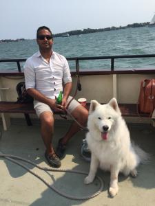 Dad and I At Sea